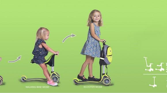 EVO 4 in 1 PLUS: удобный скутер для малышей от 1 до 6